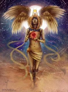 Goddess Isis art by j-am