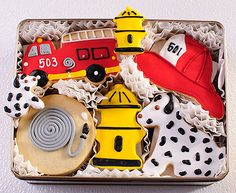 fireman cookie tin - look at the detail!