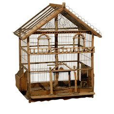 For Sale on - century French birdcage, circa 1860 One of a kind antique birdcage. Antique Bird Cages, Kirkland Home Decor, Backyard Gazebo, Metal Birds, Arched Windows, Vintage Birds, Home Accents, Metal Accents, Bird Houses