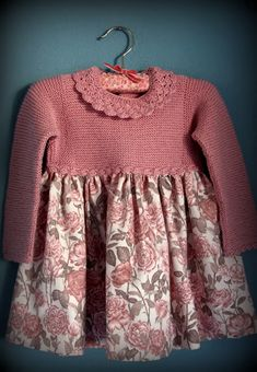 knit bodice, fabric skirt