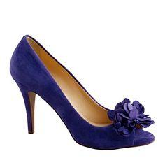 Evie fleurette peep-toe heels