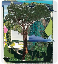 Mickalene Thomas - Landscape With Tree