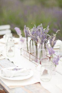 Provence style lavender floral centerpiece