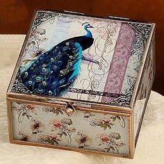 Peacock Jewelry Box $23.75 www.AllThingsPeacock.com