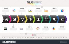Timeline Infographics design template with icons set , Vector . Infographics Design, Timeline Infographic, Icon Set, Royalty Free Stock Photos, Templates, Image, Stencils, Template, Western Food