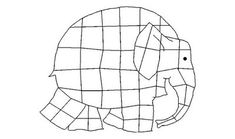 Dibujo del elefante Elmer para colorear