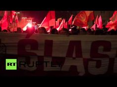 Poland: EU flag burned during Wroclaw Independence Day march - YouTube