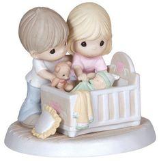 Parents Baby Precious Moments Figurine We're Glad You Came Into Our Lives NWOB #PreciousMoments