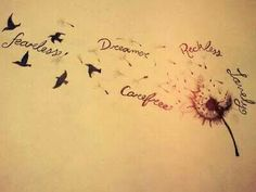 Dandelion tattoo...I'm thinking of the boys names instead...just thinking...