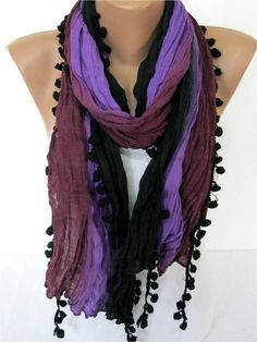 NEW-Multicolor Scarf-Fashion Scarf  Cowl Scarf-gift by MebaDesign