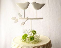White Wedding Cake Topper, Bird Cake Topper/ Love Birds for Your Rustic Wedding and Shipping in 3-5 Business Days on Every Order!