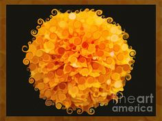Marigold Magic Abstract Flower Art by Omaste Witkowski Yellow Artwork, Abstract Flower Art, Marigold, Fine Art Prints, Original Art, Art Gallery, Artsy, Bloom, Abstract Posters