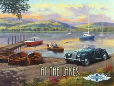 """At The Lakes Metal Sign: Automobiles and Cars Decor Wall Accent by OMSC. $19.50. Eco-friendly process, hand-made in the USA. Ships in Ploy-bag for complete protection. Glossy, full-color, enamalized imaged baked onto thick, 24-gauge steel. This sign measures 16"""" x 12"""" (400 mm x 300 mm). Rounded corners with holes for easy hanging. The """"At The Lakes Metal Sign"""" is hand-made in America. These sturdy metal signs will perfectly accent any kitchen, home, bar, pub, ..."""