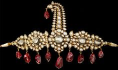 Turban ornament (Sarpech) , south India , Hyderabad from the Al Thani collection