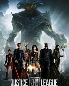 DC's Upcoming Justice League Movie Poster 2017 Including the Super Heroes Superman, Wonder Woman, Batman, Flash, Cyborg and Super Villain Steppenwolf - DigitalEntertainmentReview.com