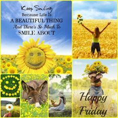 Keep smiling because life is a beautiful thing and there's so much to smile about. Good Morning Friday, Friday Weekend, Good Morning Good Night, Good Morning Quotes, Happy Weekend, Happy Day, Sunday, Collages, Happy Friday Quotes