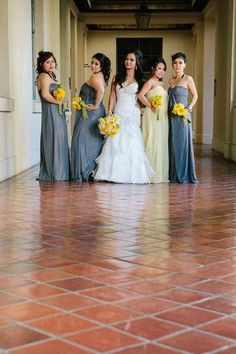 Yellow & Gray Wedding ..