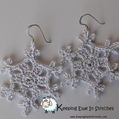 Limited edition Silvered #snow #Snowflake #earrings #KeepingEweInStitches