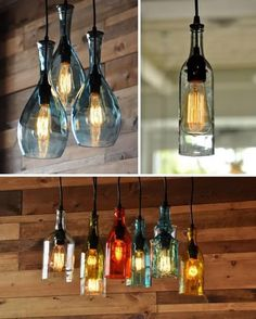 Turn Old Bottles Into Lamps DIY Project