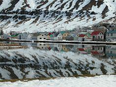 seyðisfjörður, small village in the eastfjords, iceland