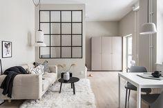 Scandinavian studio apartment design by Refine Design Studio Studio Apartments, Studio Apartment Design, Design Studio, Apartment Interior, Small Apartments, Studio Apartment Living, Small Space Living, Small Spaces, Living Spaces