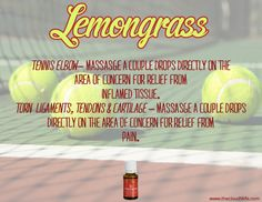 5 Amazing Benefits of Lemongrass Essential Oil Why use anti-inflammatories, cortisol injections, or braces when you can use natural lemongrass oil for relief from Tennis elbow?
