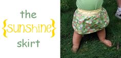 Darling baby skirt- FREE pattern included!
