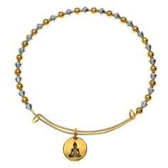 Tutorial - How to: Beaded Buddha Charm Bangle | Beadaholique