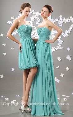 Vintage Ruched Strapless Short Length Chiffon A-line Bridesmaid Dress