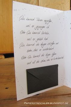Eine Kondolenzkarte...