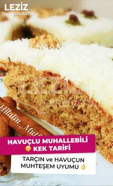 Havuçlu Muhallebili Kek Tarifi – Kurabiye – The Most Practical and Easy Recipes Rice Recipes, Casserole Recipes, Food Porn, Custard Cake, Desert Recipes, Mixed Drinks, Banana Bread, Carrots, Deserts