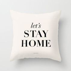 """Typography Pillow """"Let's Stay Home"""" Bedroom Living Room Home Decor on Etsy, $34.00"""