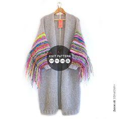 Knit pattern – MYPZ Long Festival Cardigan No.6 (ENG) - M Y P Z Easy Model, Diy Clothes Refashion, No 6, Mohair Yarn, Types Of Yarn, Picture Sizes, Knitting Yarn, Knitwear, Knitting Patterns