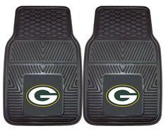 Green Bay Packers Car Mats Heavy Duty 2 Piece Vinyl