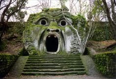 In the province of Viterbo there is a place unique in the world because of its peculiarity: it is the Monster Park at Bomarzo, also known as the Sacred Grove. Description from mycabinrome.com. I searched for this on bing.com/images