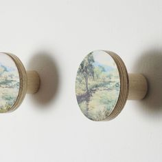 wall wooden HOOKS landscape and beach design  by Chocolate Creative - wooden furniture knobs, wall hooks, desk accessories, cushions