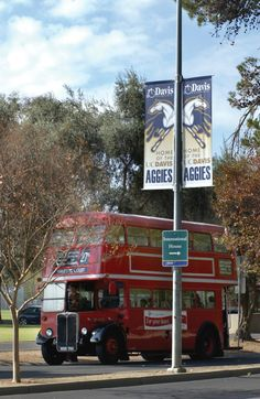 #2 Ride a Unitrans Bus: Unitrans provides public transportation to the entire city of Davis with 49 buses on 14 routes and over three million passengers per year. A distinct feature of Unitrans is the double-decker buses that were brought from London to operate two routes.
