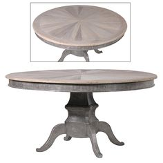 Round Dining Table Made Of Elm - La Maison Chic, Interior Specialists in French Furniture, Rococo Furniture, Mirrors, Lighting & Accessories
