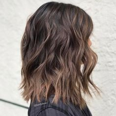 Wavy Ash Brown Hairstyle