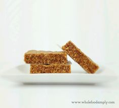 Simple and delicious Chewy Caramel Bars. Free from wheat, dairy, egg and refined sugar. I hope you do too. Simply Recipes, Sweet Recipes, Whole Food Recipes, Snack Recipes, Snacks, Sugar Free Treats, Paleo Treats, Allergy Free Recipes, Sugar Free Recipes
