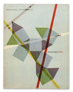 General Dynamics Annual Report 1955/ Vintage/ Cover