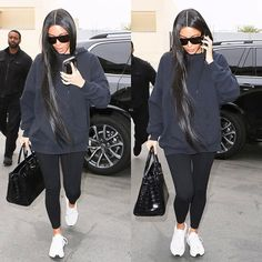 Kim arriving at Epione in Beverly Hills today.