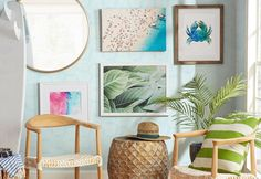 Best coastal wall decor and beach themed wall art for your home. We have some of the absolute best beach style wall decorations including canvas art, wall art, metal art, wooden beach signs, and more.