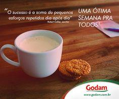 Com esse frio, vai muito bem um leitinho quente! Acesse nosso site: www.godam.com.br