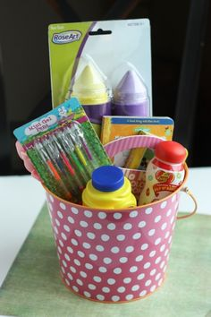 50 easter basket ideas that don't involve candy... This will be helpful for my niece!