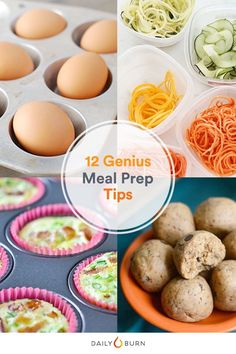 A little planning will ensure you're making healthy choices all week. Steal these meal prep ideas for portion control and cooking in bulk. via @dailyburn