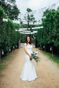 Bride wears Augusta Jones - Skyler