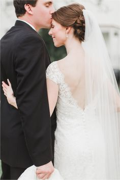 They met at the elementary school where they both teach... and their relationship continued to grow! Bridal hair by Norma.