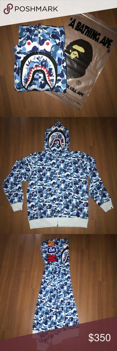 a39d97bf BAPE ABC CAMO LIGHT BLUE SHARK HOODIE No trade. For sale only. Authentic  with