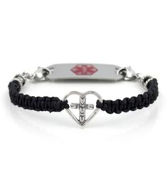 Cross My Heart Medical ID Bracelet from Lauren's Hope Medical ID. #laurenshope #laurenshopeID #medicalID